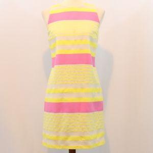Loft Cotton Striped Woven Sheath Dress